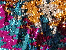 Close Up Of A Fabric Decorated...