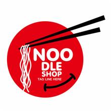 Chinese Noodle Logo Design Ico...