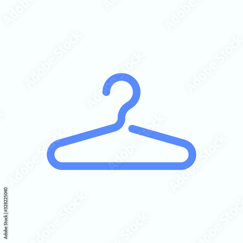 Valokuva Clothes hanger icon for the web and print design usage