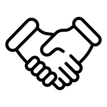 Handshake Icon. Outline Handsh...