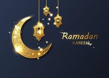 Ramadan Kareem Background. Ramadan Mubarak Greeting Card, Invitation For Muslim Community
