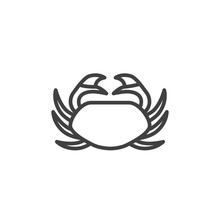 Sea Crab Line Icon. Linear Sty...
