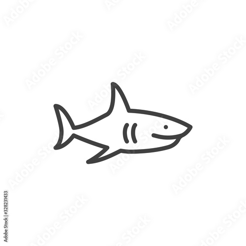 Fototapeta Shark line icon