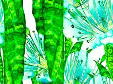 Watercolor Leaves Seamless Pat...
