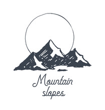 Mountain Logotype Logo Sunrise...