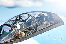 Military Pilot In Fighter Jet ...