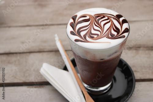 Fotografie, Obraz Delicious iced mocha coffee