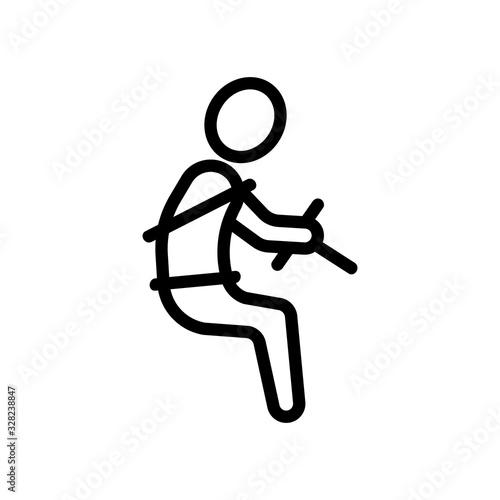 Seat belt icon vector Canvas Print