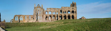 Ancient Abbey Ruins With Gothi...