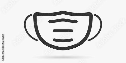 Obraz Surgical mask or medical mask isolated. Protection from virus or coronavirus. Vector illustration - fototapety do salonu