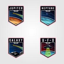Set Of Space Landscape Planet ...