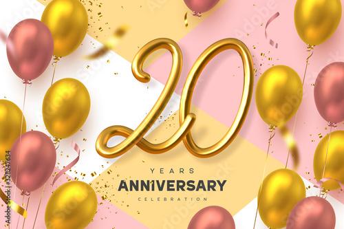 Photo 20 years anniversary celebration banner