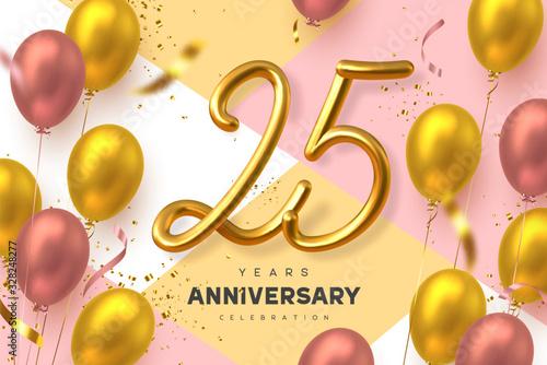 Fotografía 25 years anniversary celebration banner