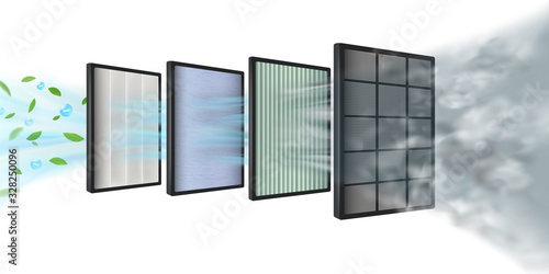 The new Multi-layer air filter efficiency technology consists of multiple filter layers Canvas Print