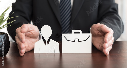 Obraz Concept of job loss insurance - fototapety do salonu