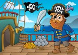 Pirate holding sabre theme 3