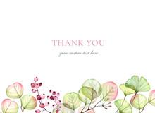 Watercolor Floral Card Templat...