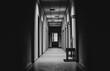 canvas print picture - hospital hallway