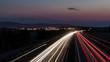 canvas print picture - autobahn nacht