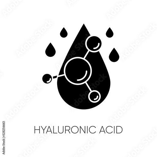Photo Hyaluronic acid black glyph icon