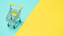 Empty Miniature Shopping Cart ...