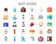 suit icon set