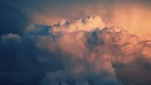 Fluffy Sky Weather Sunset Dram...