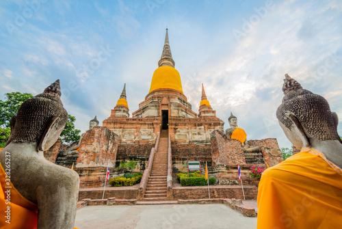 Photo Old temple at Wat Yai Chai Mongkol