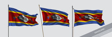 Set Of Swaziland Waving Flag O...