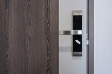 Modern Entrance Wooden Door Wi...