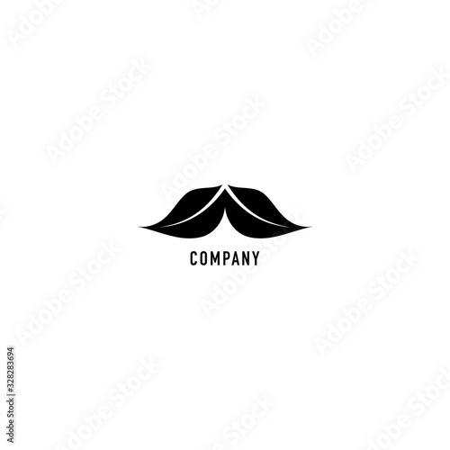 Abstract mustache illustrated with twin leaf shape Canvas-taulu
