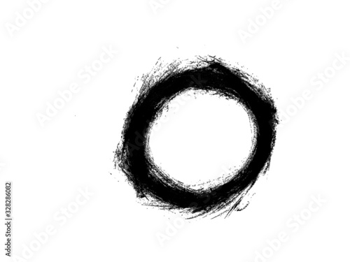 Fototapety, obrazy: Grunge Circle Round Frame Background