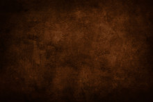 Dark Brown Stained Grungy Background Or Texture