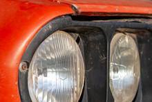 Headlights On An Old Car