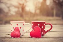 Polka Dot Mug With Love Symbol...