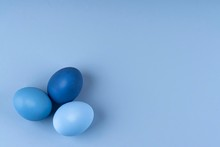 Three Easter Eggs Of Blue And ...
