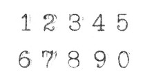 Typewriter Numbers Isolated On...