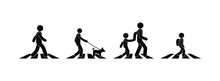 Pedestrian Icon, Stick Figure ...