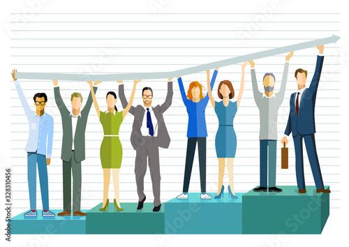 Photo Erfolgreiche Geschäfts Bilanz aufsteigen