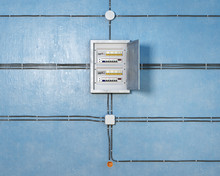 Wires, Switch Box, Junction Boxes And Socket On Wall, 3d Illustration