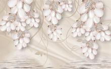 3d Flowers, Flower, White, Sil...