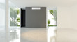 Leinwanddruck Bild - large luxury modern bright interiors with air conditioning illustration 3D rendering