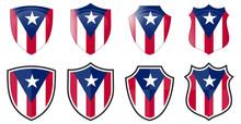 Vertical Puerto Rico Flag In S...