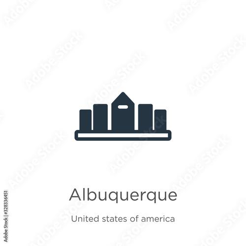 Albuquerque icon vector Canvas Print