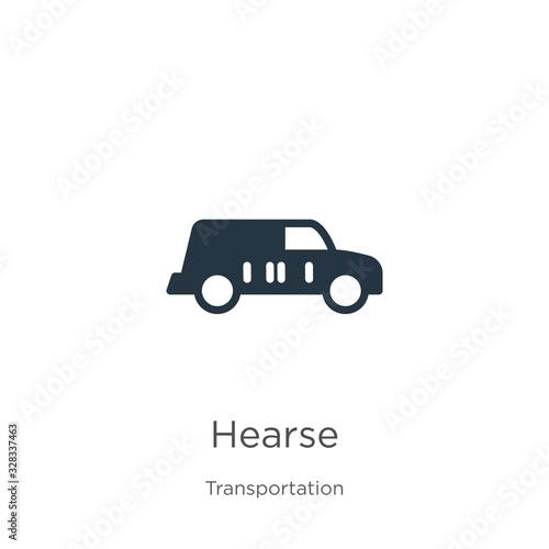 Hearse icon vector Canvas Print