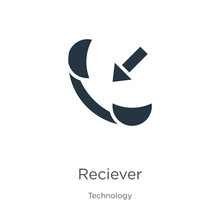 Reciever Icon Vector. Trendy Flat Reciever Icon From Technology Collection Isolated On White Background. Vector Illustration Can Be Used For Web And Mobile Graphic Design, Logo, Eps10
