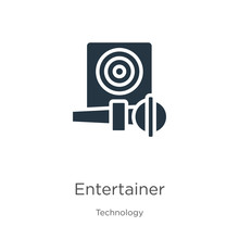 Entertainer Icon Vector. Trend...