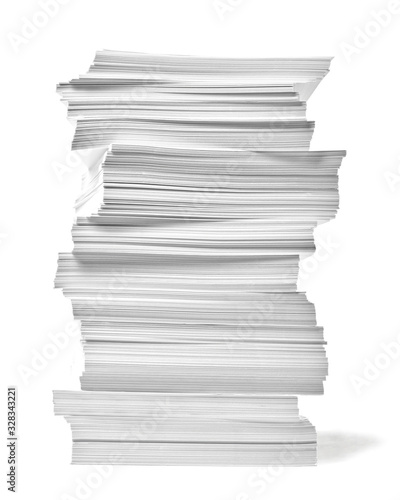 Fotomural paper stack pile office paperwork busniess education
