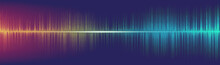 Equalizer Digital Sound Wave Background,technology And Earthquake Wave Concept,design For Music Industry,Vector,Illustration.