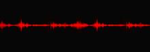 Blood Red Digital Sound Wave L...